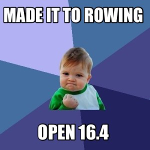 made it rowing